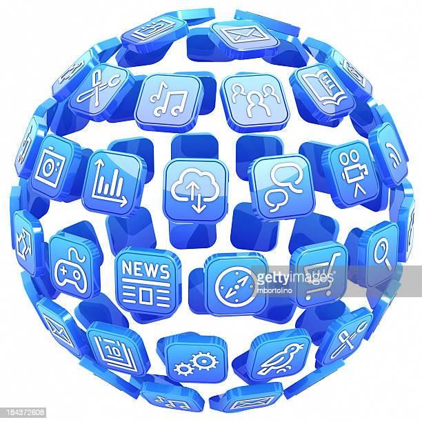 Apps blue sphere