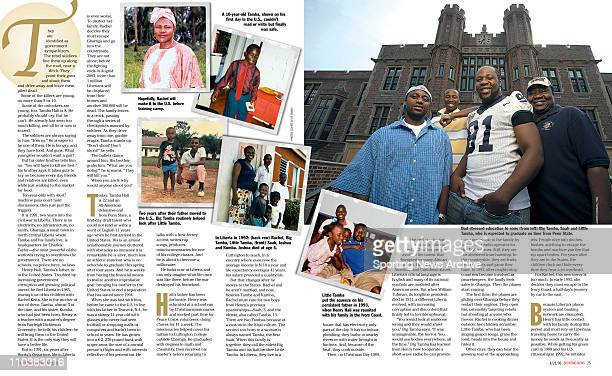 Apr 07 2006 Teaneck NJ USA Penn State TAMBA HALI featured on the pages of Sporting News via Getty Images magazine Hali is expected to go high in the...