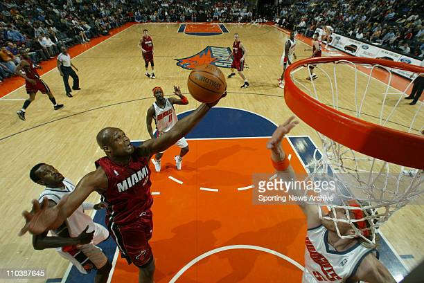 Apr 10 2007 Charlotte NC USA The Miami Heat ANTOINE WALKER against the Charlotte Bobcats at the Charlotte Bobcats Arena The Bobcats won 9282