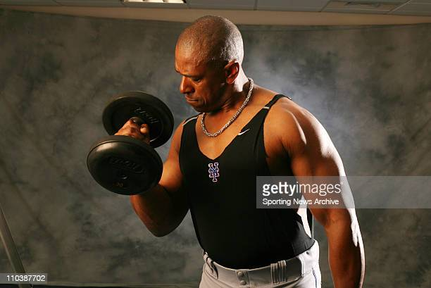 Apr 11 2007 Orlando FL USA New York Mets JULIO FRANCO poses for a portrait during spring training at Tradition Field in Port St Lucie PICTURED Feb 24...