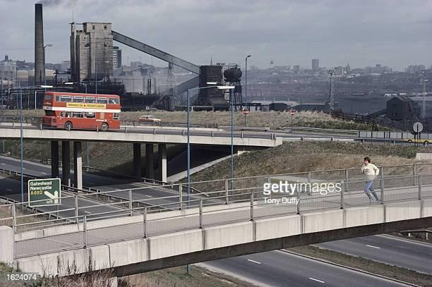 Brendan Foster of Great Britain trains on the outskirts of Gateshead England Mandatory Credit Tony Duffy/Allsport