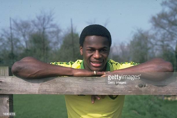 Portrait of Justin Fashanu of Norwich City Mandatory Credit Allsport UK /Allsport