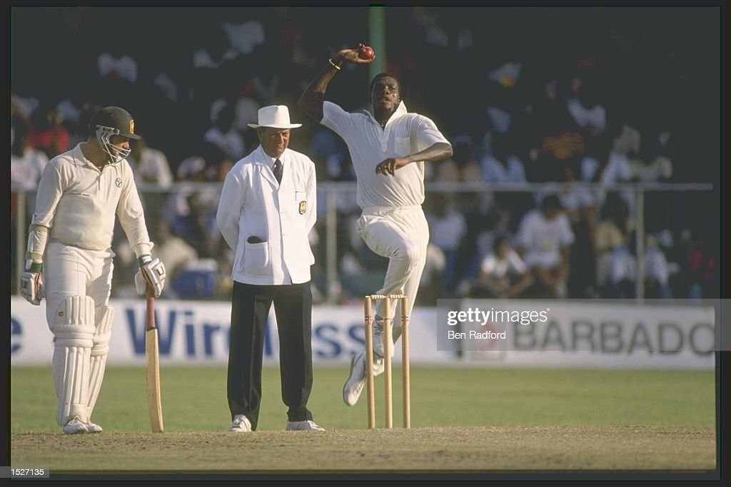 Curtly Ambrose in action... : News Photo