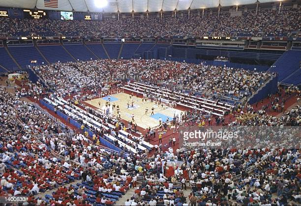 General view of a playoff game between the Duke Blue Devils and the Michigan Wolverines at the Hubert H Humphrey Metrodome in Minneapolis Minnesota...