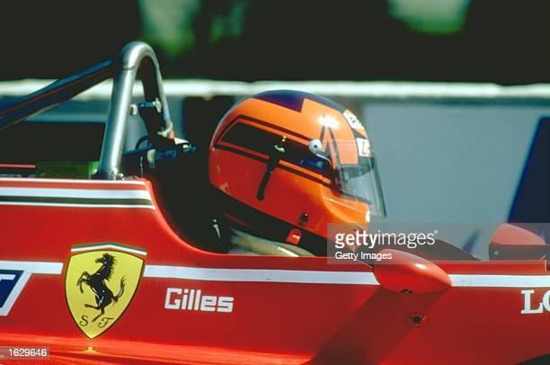 Portrait of Gilles Villeneuve of Canada in his Scuderia Ferriari before a Formula One race Mandatory Credit Allsport UK /Allsport