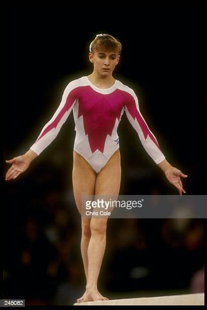 Shannon Miller does her routine on the balance beam during the World Gymnastics Championships in Birmingham Alabama Mandatory Credit Chris Cole...
