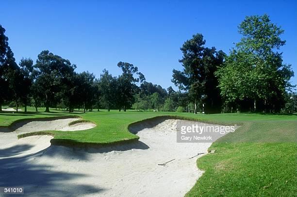 General view of the 4th hole at the Riviera Country Club in Pacific Palisades, California, site of the 1995 PGA Championships. Mandatory Credit: Gary...