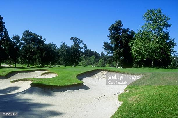A general view of the 4th hole at the Riviera Country Club in Pacific Palisades California site of the 1995 PGA Championships Mandatory Credit Gary...