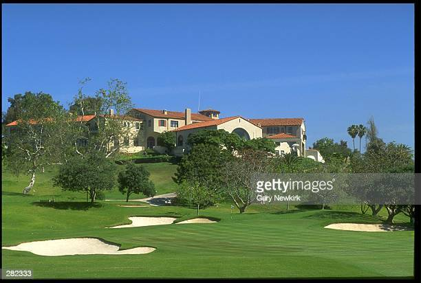 View of the Riviera Country Club from the 9th hole in Pacific Palisades, California. Mandatory Credit: Gary Newkirk/Allsport