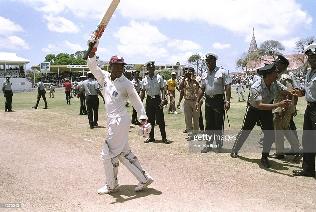 Brian Lara of the West Indies : News Photo
