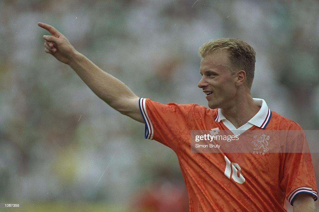 Dennis Bergkamp of Holland : News Photo