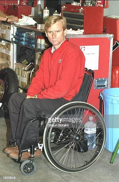 Marlboro Team Boss Wayne Rainey of the USA in the garages before the Japanese Grand Prix at the Suzuka circuit in Japan Mandatory Credit Shaun...