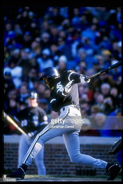 Michael Jordan of the Chicago White Sox swings at the ball