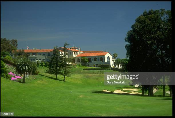 The site of the 1995 PGA Championships viewed from the 18th hole of the Riviera Country Club in Pacific Palisades, California. Mandatory Credit: Gary...