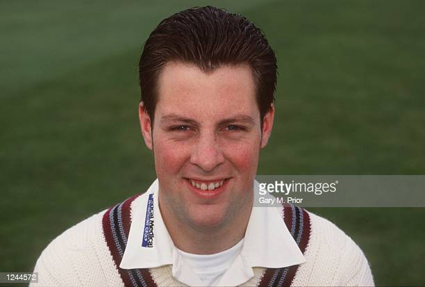 A portrait of Marcus Trescothick of Somerset during the official 1996 Somerset Cricket Club photocall at Taunton Somerset Mandatory Credit Gary M...