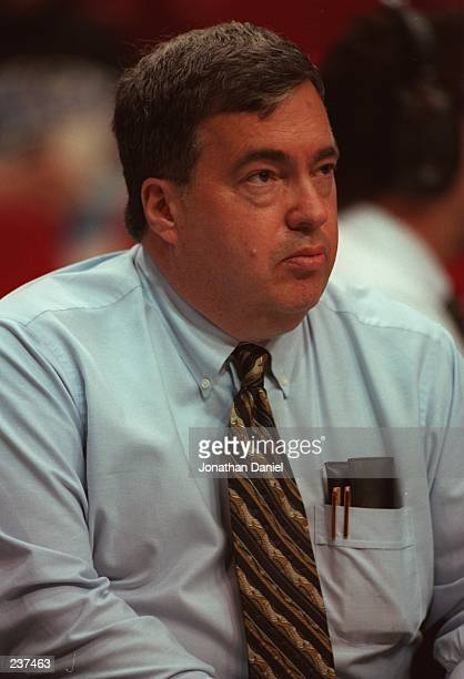 General Manager Jerry Krause of the Chicago Bulls during the Bulls 106101 Eastern Final win over the Orlando Magic at the Orlando Arena in Orlando...