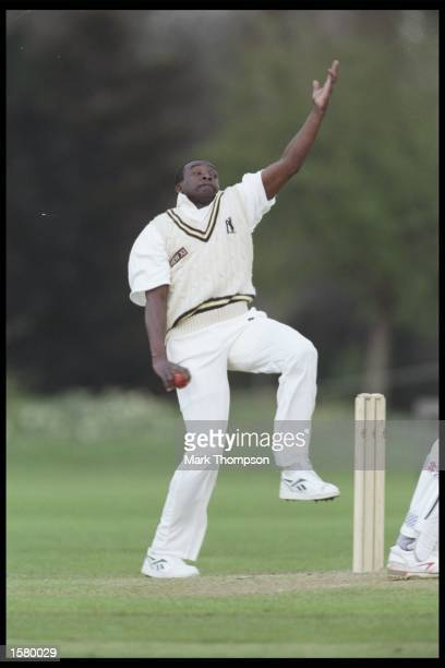 Gladstone Small bowling for Warwickshire during the Combined University against Warickshire game at the Parks Oxford Mandatory Credit Mark...