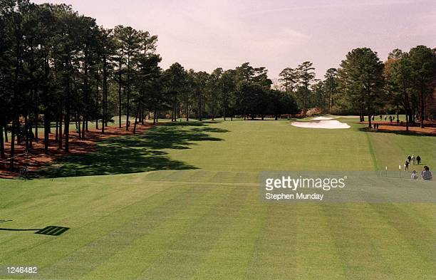 The first hole of the course during the Masters golf tournament at the Augusta National Golf Club in Augusta Georgia Mandatory Credit Stephen...