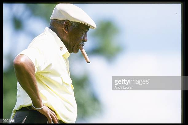 Charlie Sifford looks on during the Senior''s Championship in Palm Beach Gardens, Florida. Mandatory Credit: Andy Lyons /Allsport
