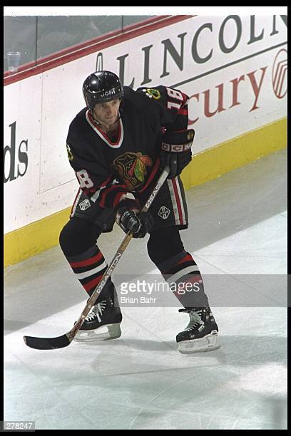 Denis Savard of the Chicago Blackhawks during their 70 loss to the Colorado Avalanche in the Stanley Cup Finals at McNichol Arena in Dever Colorado...