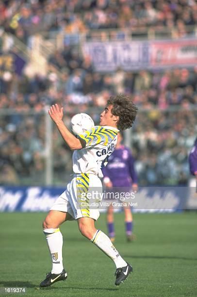 Fabio Cannavaro of Parma in action during the Serie A match against Fiorentina at the Stadio Tardini Parma Mandatory Credit Claudio Villa /Allsport