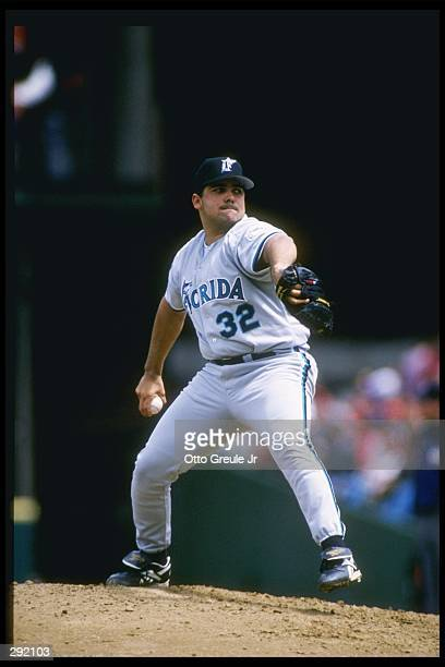 Pitcher Alex Fernandez of the Florida Marlins stands on the field during a game against the San Francisco Giants at 3Comm Park in San Francisco...