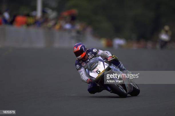 Sean Emmett riding his GSE Racing Ducati 916 during the British Superbikes Championship at Oulton Park in Tarpoley England Mandatory Credit Anton...