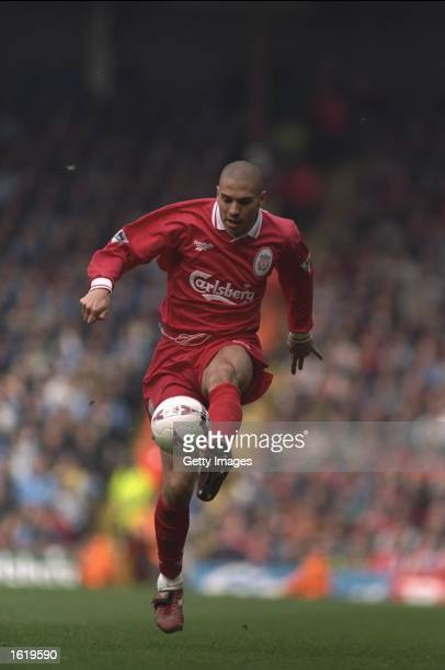Stan Collymore of Liverpool in action during the FA Premier League match against Coventry at Anfield Liverpool Coventry won 21 Mandatory Credit...