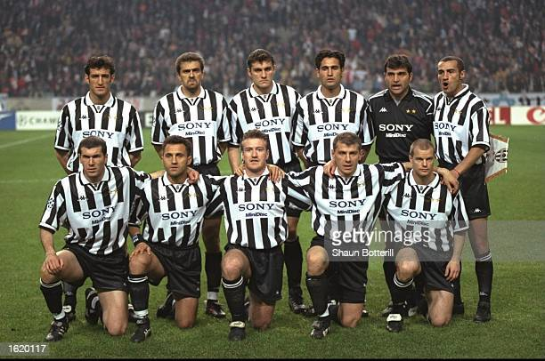 The Juventus team group before the Champions League SemiFinal first leg against Ajax at the Amsterdam Arena in Amsterdam Holland Juventus won 21...