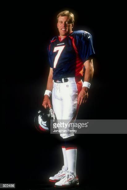 Portrait picture of John Elway of the Denver Broncos during the NFL Quarterback Club at Disney''s Boardwalk Hotel in Orlando, Florida. Mandatory...
