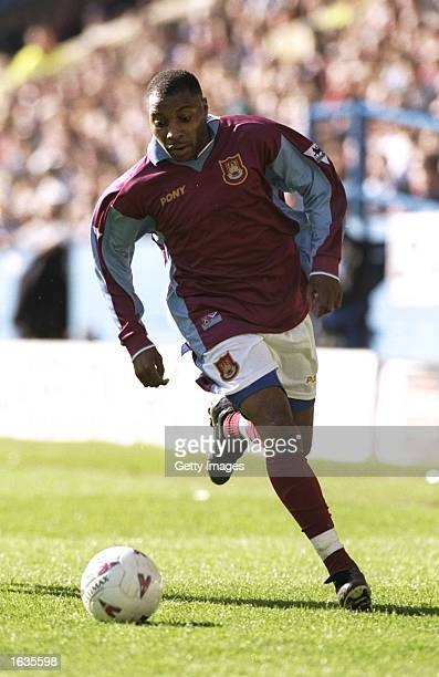 Andrew Impey of West Ham runs the line during the match between Sheffield Wednesday v West Ham United in the FA Carling Premiership played at...