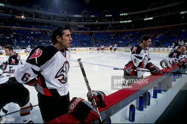 Defenseman Bob Boughner of the Buffalo Sabres in action during a game against the Montreal Canadiens at the Marine Midland Arena in Buffalo, New...