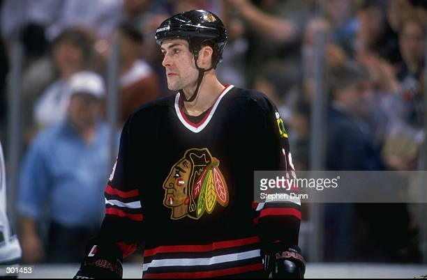 Left wing Bob Probert of the Chicago Blackhawks in action during a... News  Photo  b3ae9809a