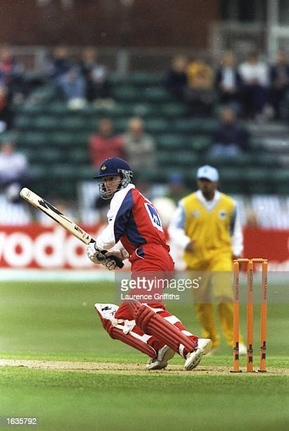Nathan Wood of Lancashire in action during an Axa League match against Sussex at the County Ground in Hove England Mandatory Credit Lawrence...