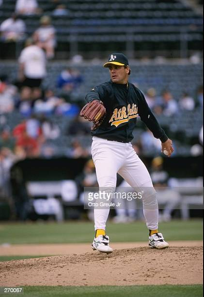 Pitcher Kenny Rogers of the Oakland Athletics in action during a game against the Cleveland Indians at the Oakland Coliseum in Oakland, California....
