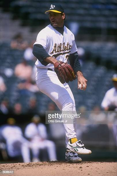 Pitcher Kenny Rogers of the Oakland Athletics in action during a game against the Kansas City Royals at the Oakland Coliseum in Oakland, California....