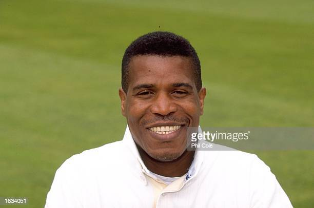 Portrait of Joey Benjamin of Surrey CCC at the Oval in London. \ Mandatory Credit: Phil Cole /Allsport