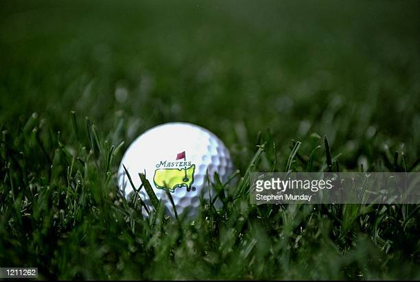 A ball Masters golf ball displays the length of the new rough increased to 1 3/8 of an Inch before the 1999 US Masters at the Augusta National GC in...