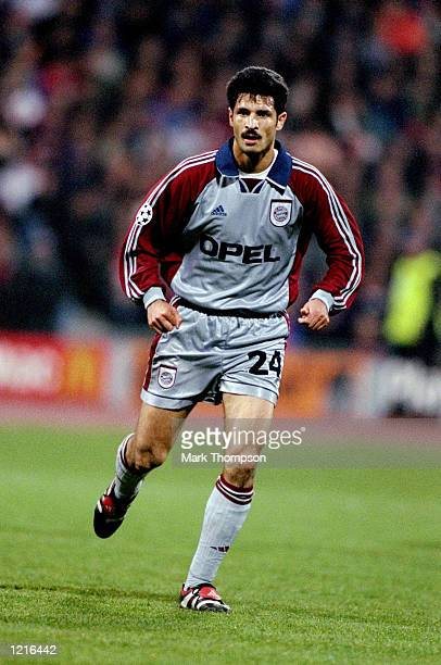 Ali Daei of Bayern Munich during the UEFA Champions League semifinal second leg match against Dynamo Kyiv at the Olympiastadion in Munich Germany...