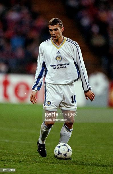 Andrii Shevchenko of Dynamo Kyiv during the UEFA Champions League semifinal second leg match against Bayern Munich at the Olympiastadion in Munich...