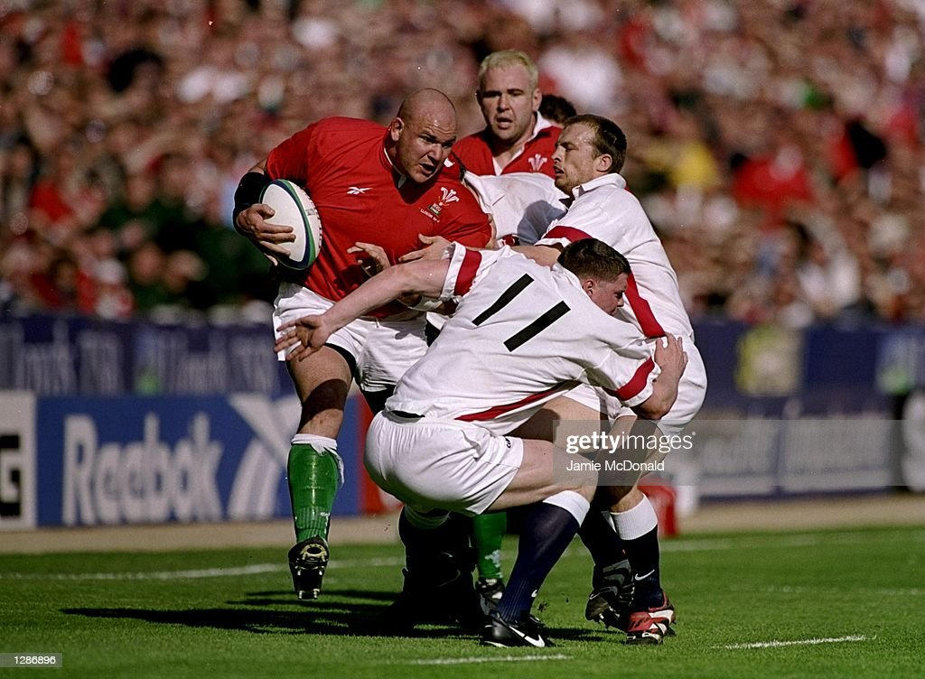Wales v England Craig Quinnell and Steve Hanley : News Photo