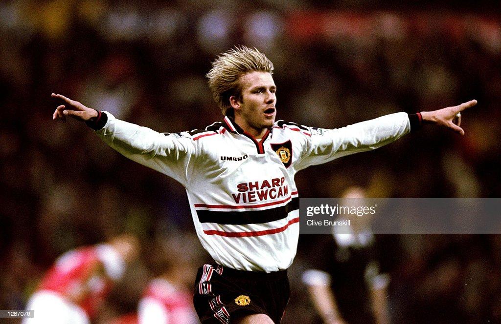 FA Cup semi-final replay David Beckham : News Photo