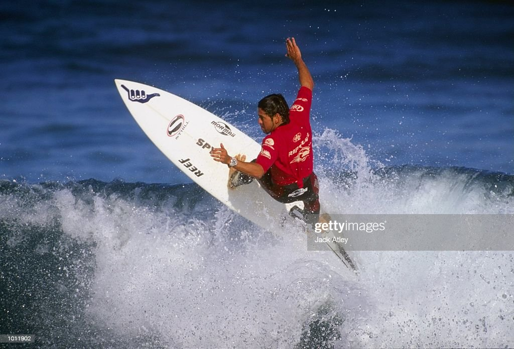 Fabio Gouveia of Brazil in action during the 1999 Rip Curl Pro Surfing Championships from Bells Beach, Victoria, Australia. \ Mandatory Credit: Jack Atley /Allsport