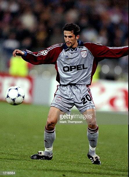 Hasan Salihamidzic of Bayern Munich in action against Dynamo Kyiv in the UEFA Champions League semifinal second leg match at the Olympiastadion in...