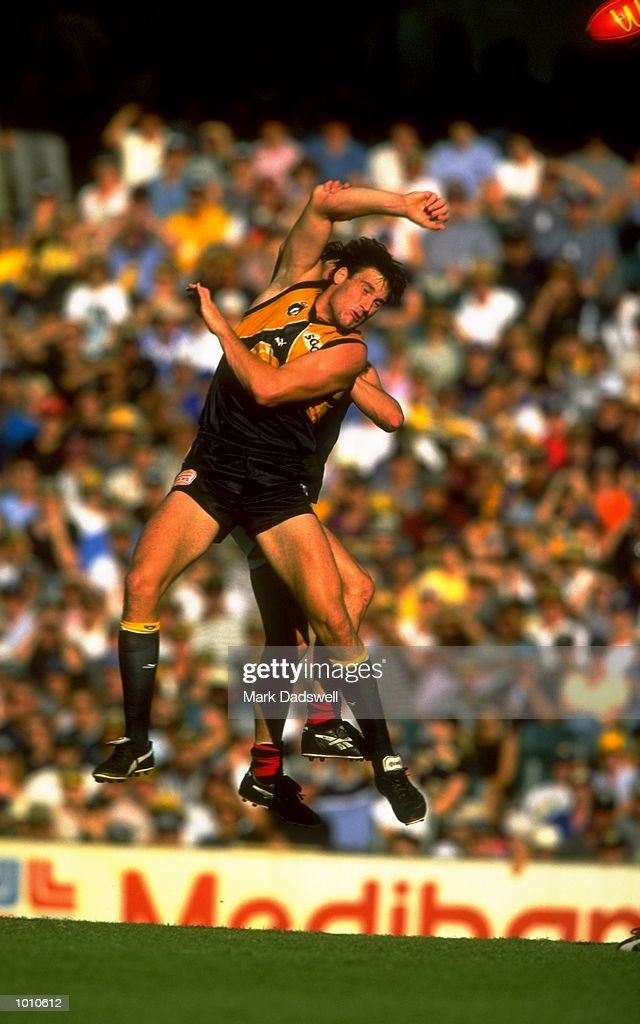 Jason Ball of the West Coast Eagles in action during the 1999 AFL Premiership Round 4 match, where the West Coast (97) defeated Essendon (23) at the Subiaco Oval, Perth, Australia. \ Mandatory Credit: Mark Dadswell /Allsport