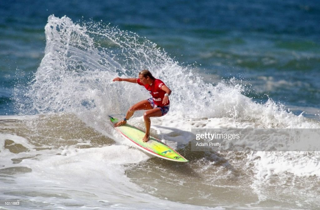 Layne Beachley of Australia in action during the 1999 Coca-Cola Classic Surfing Championship at Manly Beach, Sydney, Australia. \ Mandatory Credit: Adam Pretty /Allsport