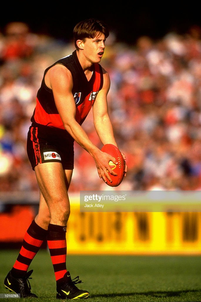 Matthew Lloyd of the Melbourne Demons in action during the AFL Premiership Round 5 match against the Collingwood Magpies at the MCG, Melbourne, Australia. The Anzac Day game finished with Essendon (108) defeating Collingwood (100). \ Mandatory Credit: Jack Atley /Allsport