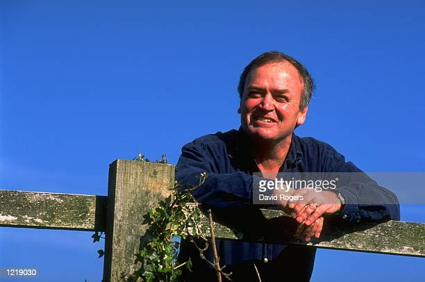 Portrait of Welsh National coach Graham Henry standing in a field in Newport Wales Mandatory Credit David Rogers /Allsport