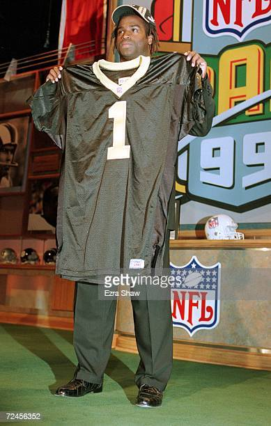 Ricky Williams of the New Orleans Saints stands with his jersey during the NFL Draft at Madison Square Garden in New York New York Mandatory Credit...