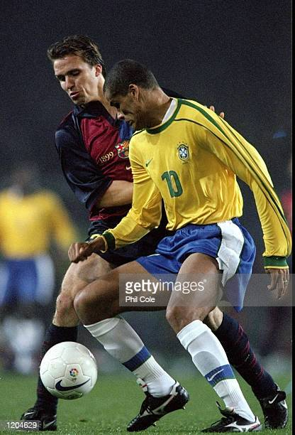 Rivaldo of Brazil in action during a match against Barcelona to commemorate the club's centenary at the Nou Camp in Barcelona, Spain. \ Mandatory...
